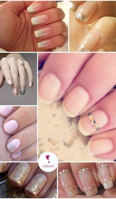 Unhas para casamento | Wedding nails #nail #unhas #unha #nails #unhasdecoradas #nailart #bridal #noiva #chic #elegante #lindo