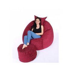 Set fotoliu King Size Sour Cherry rosu puf Sour Cherry, Egg Chair, King Size, Bean Bag Chair, Home Decor, Decoration Home, Room Decor, Beanbag Chair, Home Interior Design