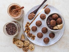 These 7 Ingredient Cacao and Fig Bliss Balls are ready in less than 15 minutes! They're a perfect afternoon pick-me-up, evening treat, or lunch box snack.