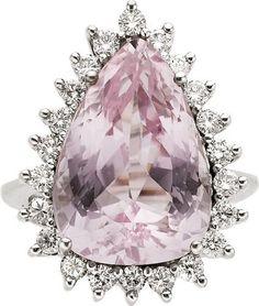 Rosamaria G Frangini | High Pink Jewellery | Kunzite, Diamond, White Gold Ring.