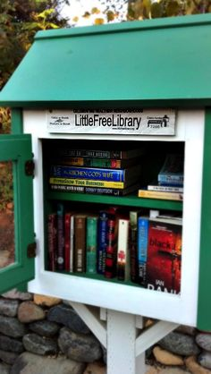 Lending library set up in front of your house. Reading can impact you life in ways you could never imagine.