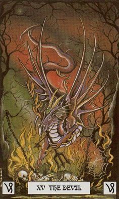 XV - Le diable - Dragon de tarot par Peter Pracownik