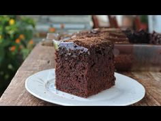 Best Vegan Chocolate, Chocolate Cake, Meals Without Meat, Greek Sweets, Kolaci I Torte, Crazy Cakes, Greek Recipes, Sweet Tooth, Food And Drink