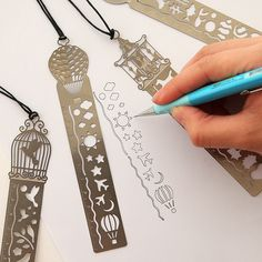 Multifunctional Retro Hollow Metal Ruler Drawing Bookmarker School Line Template Patchwork Spirograph Length Mesures Tool Measuring & Gauging Tools