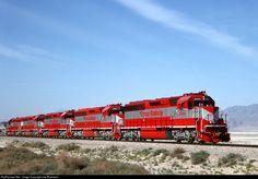 RailPictures.Net Photo: TRRY 3004 Trona Railroad EMD SD45-2 at Trona, California by Joe Blackwell
