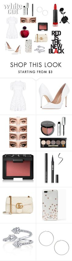"""""""Bold Lips💄"""" by littlemissluna10 ❤ liked on Polyvore featuring Steve Madden, Bobbi Brown Cosmetics, NARS Cosmetics, Gucci, Kate Spade, Miss Selfridge and Max Factor"""