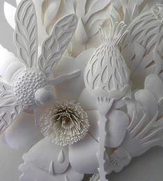 Intricately cut paper art
