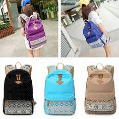 Damen Backpack Rucksack Schulranzen School Shoulder bag Freizeitrucksack