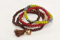 Lucy Doo - Jewel-toned Beaded Stretch Bracelets, $15.00 (http://www.lucydoo.com/jewel-toned-beaded-stretch-bracelets/)