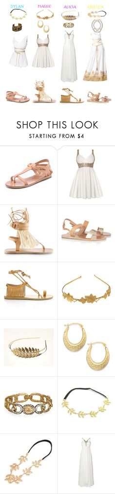 """The Clique- Toga Party"" by daniellenicole ❤ liked on Polyvore featuring Ancient Greek Sandals, Isabel Marant, Phase Eight and Witchery"