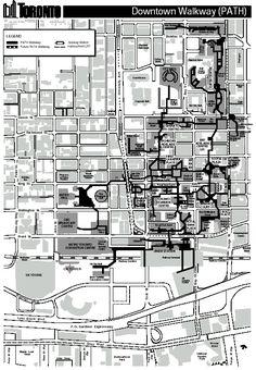 Toronto PATH underground map