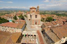 Il #Centro #Storico di #Lucignano fotografato dall'alto - #Arezzo #Toscana #Tuscany #Italy