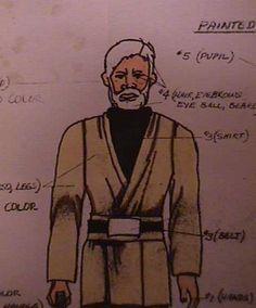 Ben Kenobi Action Figure Blueprint and Color Specification Sheet - Star Wars Collectors Archive