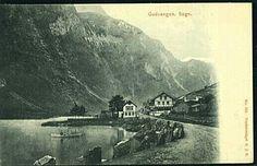 Sogn og Fjordane fylke Aurland kommune Gudvangen Utg A.J.K. Brukt tidlig 1900-tall