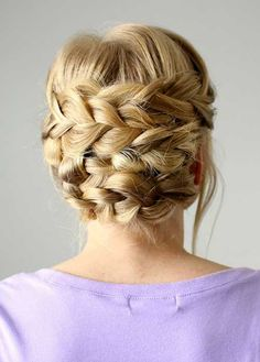 Updos with Braids for Long Blonde Hair