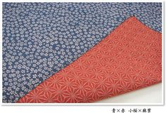 Rakuichi-Kimono | Rakuten Global Market: Reviews fill in Kozakura 1,455 yen (excluding tax) double-sided Furoshiki (wrapping cloth) x hemp leaf (blue x red) three width large format (105 cm width) mother's day father's day early split the White Day Gift Giveaway return souvenirs Kyoto overseas