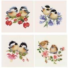 Berry Chick-Chat - Valerie Pfeiffer Chickadee