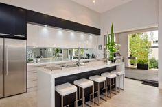 Fabulous Tricks Can Change Your Life: Black Backsplash Rustic mother of pearl backsplash love. Modern Kitchen Design, Interior Design Kitchen, Home Interior, Kitchen Living, New Kitchen, Kitchen Decor, Kitchen Flooring, Kitchen Backsplash, Black Backsplash