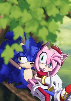 """""""Sonic.. What is that..?"""" """"Eh, looks like one of eggmans bots spying on us"""""""