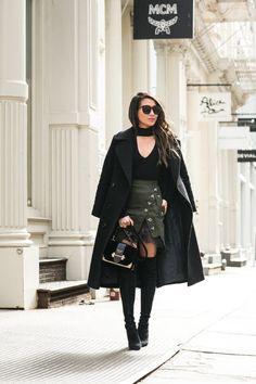 Winter to Spring :: Lace miniskirt & Ruffle top | Wendy's Lookbook | Bloglovin'