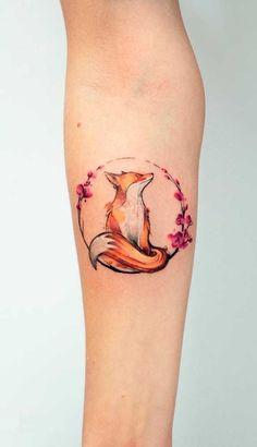 60 Breathtaking Watercolor Tattoo Ideas For Women, Ideas . - 60 stunning watercolor tattoo ideas for women, # stunning - Trendy Tattoos, Unique Tattoos, New Tattoos, Tattoos For Guys, Awesome Tattoos, Small Tattoos, Small Fox Tattoo, Colorful Tattoos, Tatoos