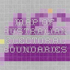 Map of Australian Electoral Boundaries