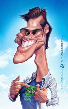 "Caricaturas de Famosos: ""Jim Carrey"" por Anthony Geoffroy"
