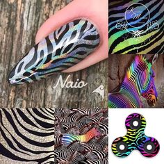 In love with holo zebra https://youtu.be/Y2_aPL2LW4o #nailart #naionailsuk #zebranails #unicorn #kirstymeakin #nails2inspire #nailstagram