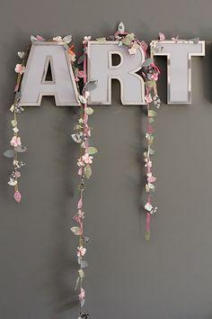 DIY spring flower garland
