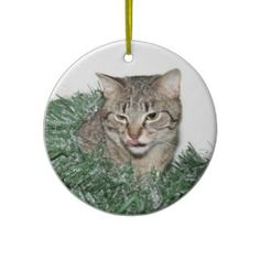 Tabby Christmas Christmas Tree Ornaments Christmas Christmas, Christmas Tree Ornaments, Christmas Crafts, Homemade Christmas Decorations, Bumper Stickers, Holiday Gifts, Presents, Color, Ideas