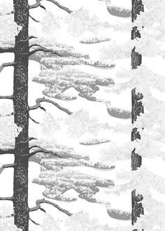 <p><span>Punkaharju-kankaan kuosi taltioi otoksen kaunista suomalaista kansallismaisemaa harjulta alas katsottuna. Vahvojen puunrunkojen välistä avautuu komea ja rauhoittava järvi- ja saarimaisema. Kuosin on suunnitellut Riina Kuikka</span>