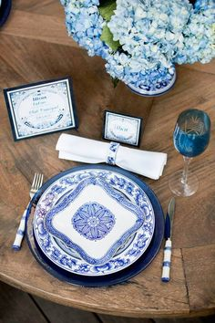 Styling by Maddy K // Shabby Chic Reclaimed Dining Table by Joe's Prop House // Menu and Place Card by Silvana Misantone Signature Invitations // Photo by Badger Photography // Location Ritz Carlton Montreal