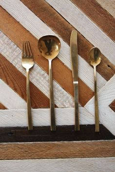 Vintage Gold Flatware - Set for 4. $130.00