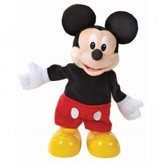 The Mickey Mouse Clubhouse Dance & Shout Mickey is an electronic Mickey Mouse that moves and grooves to more than 20 songs, games, and phrases.