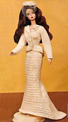 "Details about 1940's Barbie (11-1/2"" Fashion Doll) Wedding Bride Dress ..."