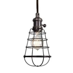 Home Depot Aged Bronze Cage Pendant $69.97 -  WHO KNEW Home Depot has a fixture this cool :)