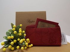 NEW Buxton Genuine $27.99 Leather Red Wallet 2 Zips Zip Pocket Card Holders #WomansWallet #Wallet