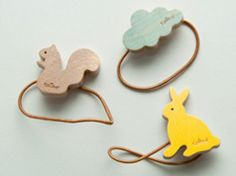 Wooden animal hair bands