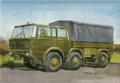 Military Car, Military Vehicles, Cars And Motorcycles, 4x4, Illustration, Prints, Painting, Army Vehicles, Painting Art