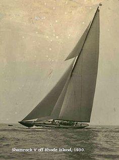 Vintage america's cup photo of Shamrock J Class yacht