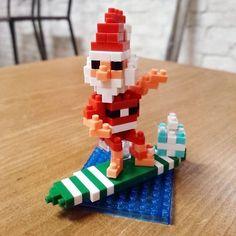 Nano SantaClaus is coming.  #merrychristmas #nanoblock #nanoblocks #santaclaus #surf #ナノブロック #サンタクロース #メリークリスマス