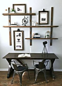 Simpson Strong-Tie Wall Mounted Shelves | Sawdust2stitches.com | Bloglovin'