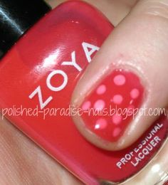 Polished Paradise: Tutorial: Zoya Blogger Trio Dotticure!  Polka Dots with Zoya Kate