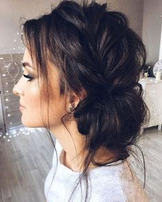 Beautiful updo with side braid wedding hairstyle for romantic bridess. Get inspired by this braid updo bridal hairstyle,loose updo messy wedding hairstyles Hairstyles loose Beautiful updo with side braid wedding hairstyle for romantic brides Wedding Hair And Makeup, Hair Makeup, Makeup Hairstyle, Hair Wedding, Wedding Car, Wedding Nails, Bridal Makeup, Medium Wedding Hair, Luxury Wedding