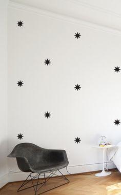 Egayer un coin (DIY ): couloir, toilettes, entrée? - Magical Starbursts    WALL DECAL par TheLovelyWall sur Etsy