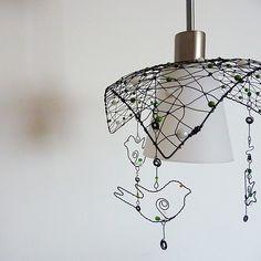 Trojúhelník - drátovaný lustr