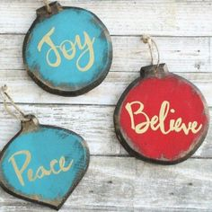 Vintage Decor Rustic s 26 ridiculously cute ornaments you need this year, christmas decorations, crafts, seasonal holiday decor, Rustic Glam Wood Shapes - Your tree will be so grateful you made these! Wooden Christmas Crafts, Wooden Christmas Decorations, Christmas Projects, Holiday Crafts, Christmas Ideas, Diy Christmas Ornaments, Homemade Christmas, Christmas Holidays, Christmas Gifts