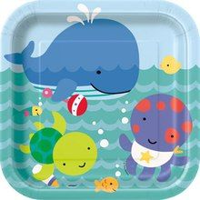 """Under the Sea Pals 8 ct 9"""" Lunch Plates Party Supply Baby Shower 1st Birthday"""