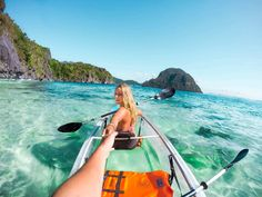 (A full day will costs you 1000 PHP)  It's a great idea to buy a lunch and drinks in town and take it with you in the kayak. Paddle to one the many islands. When you're near an island you'll see the colorful corals and fish through the bottom of the kayak. Enter the beach, relax, snorkel and lunch for a moment and enjoy the silence of being all alone. There's a chance you'll see monkeys, big lizards or hornbills on those islands.
