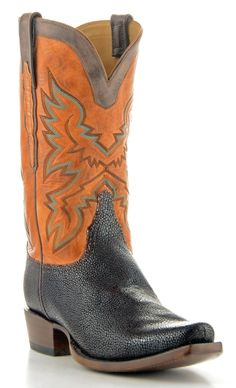 Mens Lucchese Classics Shaved Stingray Boots Coffee #Gc9117